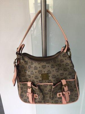 MCM Carry Bag grey brown-light pink