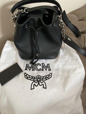 MCM Sac seau noir cuir