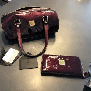 MCM Tasche Bordeaux mit passender Geldbörse