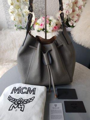 MCM Tasche Milla Drawstring Medium Phantom Grey wie neu