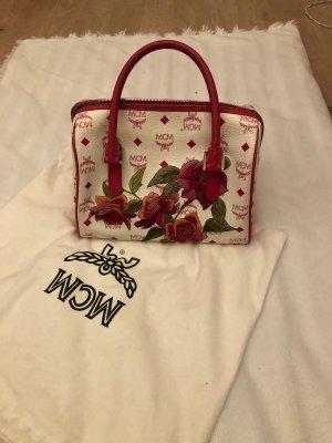MCM Borsetta bianco-rosa