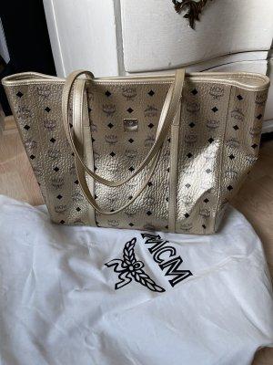 MCM Shopper doré-noir