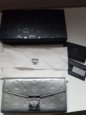 MCM Clutch silver-colored