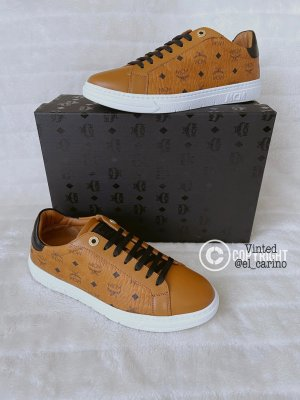 MCM *Terrain Derby Visetos Cognac* Low-Top Sneaker Schuhe Luxus Designer Leder Kunstleder