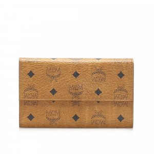 MCM Tri-fold Visetos Leather Small Wallet
