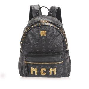MCM Mochila negro Cuero