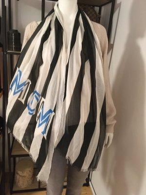 MCM Panno di seta nero-blu fiordaliso