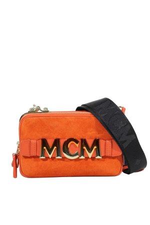 MCM Umhängetasche in Rot aus Leder