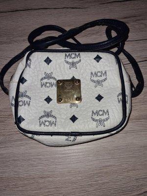 MCM Sac bandoulière blanc-bleu
