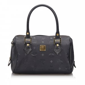 MCM Visetos Boston Bag