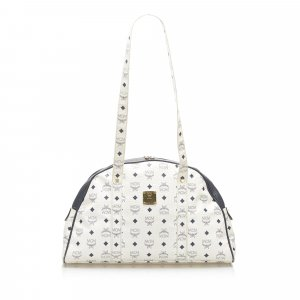 MCM Shoulder Bag white leather