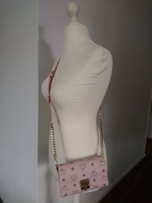 MCM Visetos Crossbody Bag Small in Powder Pink *neu*