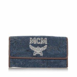 MCM Visetos Denim Wallet
