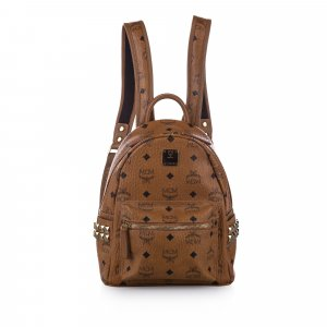 MCM Visetos Leather Backpack