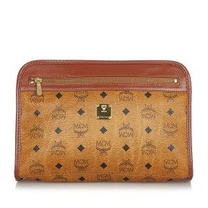MCM Visetos Leather Clutch Bag