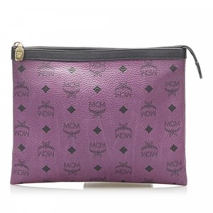 MCM Clutch purple leather