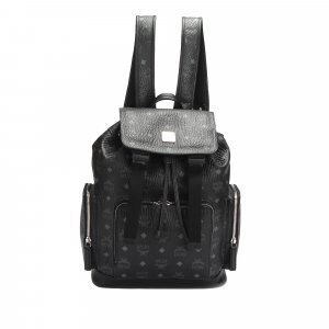 MCM Visetos Leather Drawstring Backpack