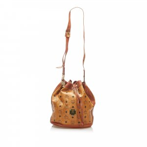 MCM Shoulder Bag brown leather