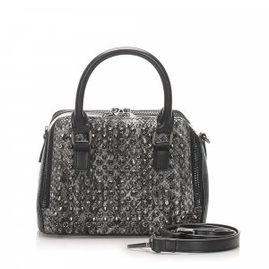 MCM Visetos Leather Handbag