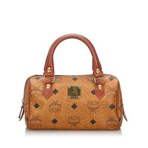 MCM Visetos Leather Handbag