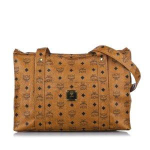 MCM Bolsa de hombro marrón Cuero