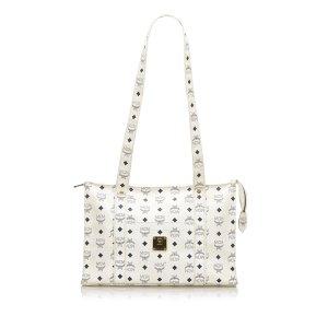 MCM Shoulder Bag white leather