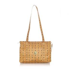 MCM Visetos Leather Tote Bag