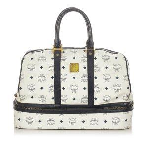 MCM Visetos Leather Travel Bag