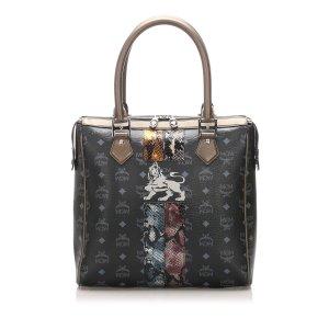 MCM Visetos Lion Princess Leather Handbag