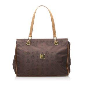MCM Visetos Nylon Chain Shoulder Bag