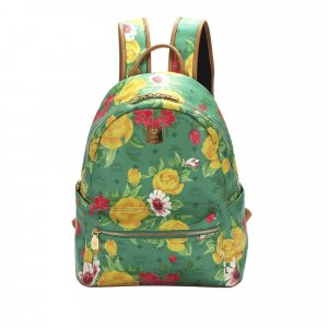 MCM Backpack green leather