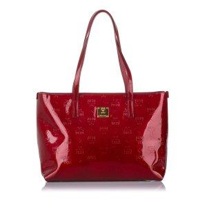 MCM Visetos Patent Leather Tote Bag