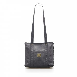 MCM Shoulder Bag black polyvinyl chloride