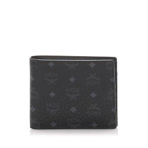MCM Wallet black leather