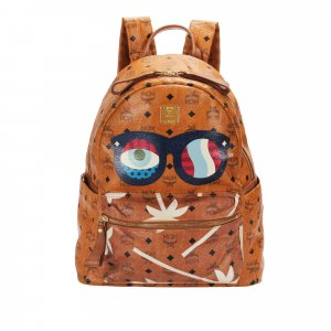 MCM Visetos Stark Evil Eye Leather Backpack