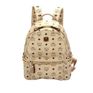 MCM Backpack beige leather