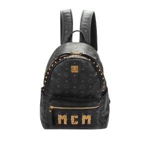 MCM Sac à dos noir cuir
