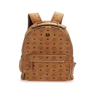 MCM Visetos Stark Leather Backpack