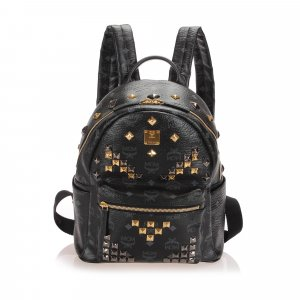 MCM Visetos Stark Leather Backpack