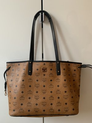 MCM Shopper black-beige leather