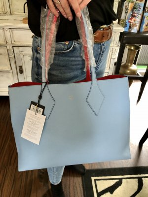 MCM Carry Bag red-baby blue