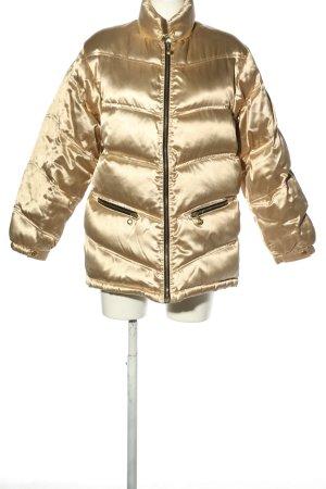 MCM Chaqueta de invierno color oro estampado acolchado look casual
