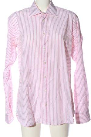 McNeal Camicia a maniche lunghe bianco-rosa motivo a righe stile professionale