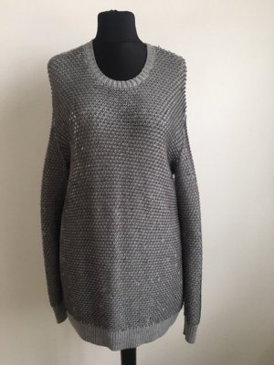 Alexander McQueen Wool Sweater silver-colored-light grey