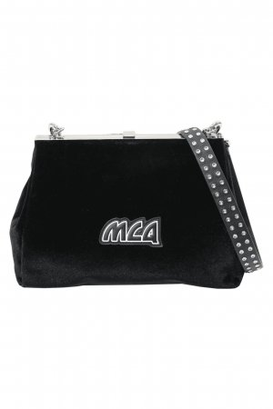 Alexander McQueen Gekruiste tas zwart Gemengd weefsel