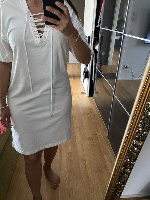 McQueen L Weiß kleid
