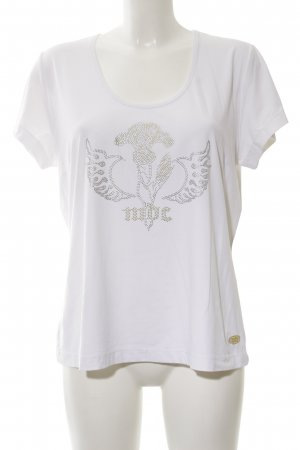 MDC T-Shirt weiß abstraktes Muster Casual-Look