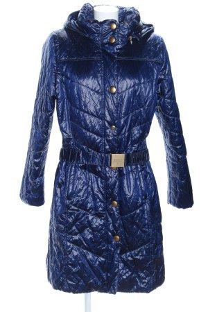 MDC Wintermantel blau Steppmuster Casual-Look