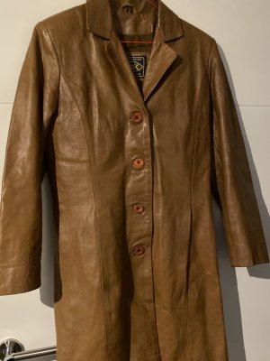 MDK Leather Coat cognac-coloured