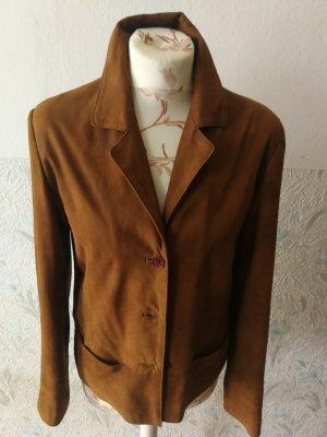 Milestone Leather Jacket cognac-coloured